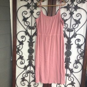 Newport News dusty rose gauzy maxi Spring dress
